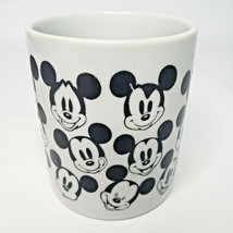 Walt Disney Mickey Mouse Unique Faces Expressions coffee mug white with black - $12.99