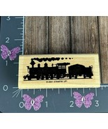 Stampin Up Rubber Stamp All Aboard Train Engine Coal Car 2001 #S3 - $14.84