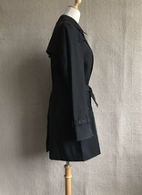 100% AUTHENTIC BURBERRY LONDON CLASSIC BLACK WOOL TRENCH COAT JAPAN  image 3