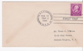 FIRST TRIP WASHINGTON, DC & HARRISBURG, VA 2/10/1941 TRIP 2 - $1.78
