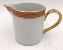 Fitz and Floyd Bordure Rouge Creamer Cream Pitcher Red Gold 6 oz China FF1 DH - $18.95