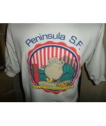 Vintage 90's Peninsula COUCH POTATO Corps White 50-50 T-Shirt Fits Adult... - $49.45