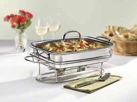 Solid Stainless Steel Party Rectangular Buffet Server 12-Inch Oven Safe ... - $87.90