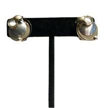 Vintage Moonstone Celestial Sun Moon Stars Clip Earrings Silver/GOLDTONE... - $37.99