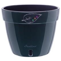 Santino Self Watering Planter Asti 10.6 Inch Green/Black Flower Pot - $473,86 MXN