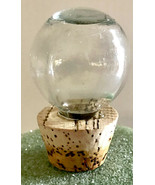 Clear Round Glass Decanter Bottle Replacement Stopper with Cork - $12.00