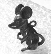 Vintage Sterling Articulated Mouse Charm : Head Moves with the Tail - $27.00
