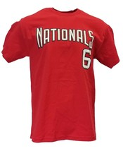 Washington Nationals #6 Jose Guilien MLB Majestic Red Player Jersey T Sh... - $12.95