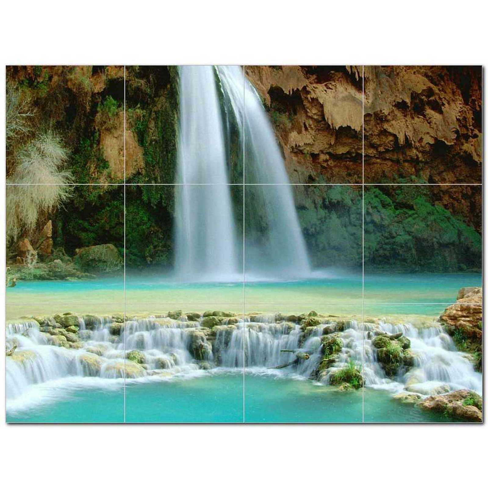 Primary image for Waterfalls Photo Ceramic Tile Mural Kitchen Backsplash Bathroom Shower BAZ406227