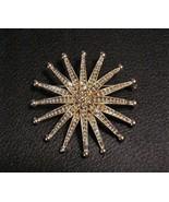 "Starburst MONET Signed Brooch Pin Vintage 2"" - $44.46"