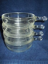 Vintage Clear Glass Stackable Soup Bowls With H... - $5.99