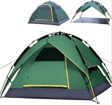 Green Automatic Outdoor 2-3-4 Persons Double layer Instant Hiking Campin... - $100.00
