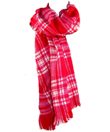 Violet Love Handwoven Plaid Winter Scarves - Scarf for Women, Fashion Scarf - MS - $22.67