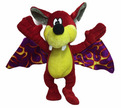 """Red Vampire Bat Plush 10"""" With Flame Wings BJ Toys Flaming Red Bat - $13.81"""