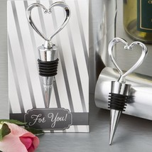 All Metal Heart Wine Bottle Stopper from fashioncraft  - $3.99