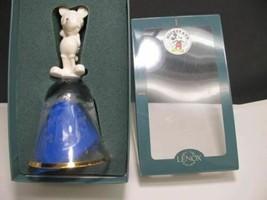 Lenox Disney Crystal bell Santa 1997 Made in USA gold band - $36.47