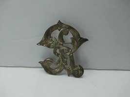 Vintage Mexico Sterling INITIAL Brooch Letter R 925 - $39.95
