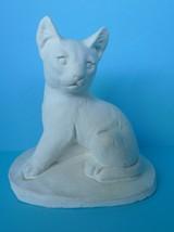 VTG Decor Collectibles pottery CAT Kitten animals gyps Figurine - £12.84 GBP