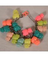 Hello Kitty Sanrio Multi Color Figure Charm Bracelet 14 Figures Pink Gre... - $99.00