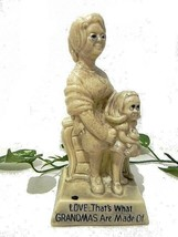 "Statue Figurine ""Love...Grandmas.."" Vintage Russ Wallace Berrie R & W World's - $12.66"