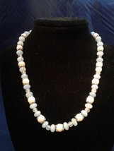 "17"" Handmade Coral, Agate, and Quartz Beaded Necklace Z170 - $30.00"