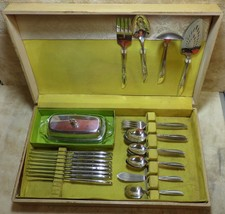 1960 WINSOME II Tudor Onieda SilverPlate Set 46 Piece Original Box Butte... - $79.99