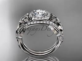 Celtic Wedding Ring Sets White Diamond Celtic Trinity Knot Bridal Set CT7300 - $2,275.00