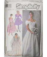 Wedding Dress Bridesmaids Dresses Vintage Size 12 EUR 40 Simplicity 8413... - $12.00
