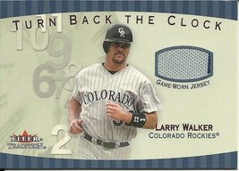 2001 Fleer Tradition Turn Back The Clock Larry Walker TBC7 Rockies - $4.00