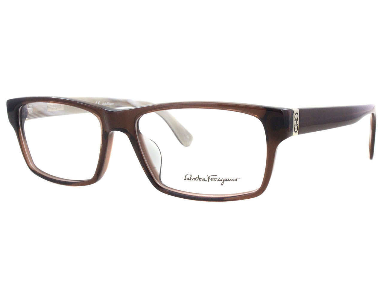 640537c9d0bf Ferragamo Eyeglasses 2640 Brown 210 Men s and 50 similar items