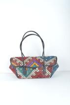 cicim kilim bags,rug bas, wool bags , vintage bag ,kilim & bag ,Leather ... - $179.00