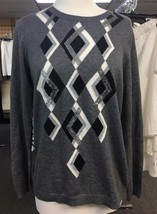 Sharter Club Women's Long Sleeves Sweater Grey Size Medium - $11.88