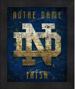 "Notre Dame Fighting Irish ""Retro College Logo Map"" 13x16 Framed Print  - $39.95"
