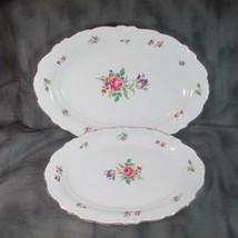 Vintage Winterling Bavaria Pr. Platters, Gold Trim, Meissen Gardens (?),... - $25.23