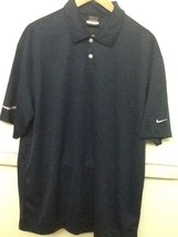 Nike Golf Dri-Fit Classic Navy Blue Polo Size L Large 373749 NWT - $21.95