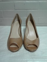 Women's Cole Haan Brown Size 10B Platform Stilettos Pumps Open Toe Shoes - $22.76