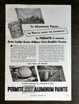 Vintage 1946 Permite Ready Mixed Aluminum Pants Full Page Original Ad - $6.64