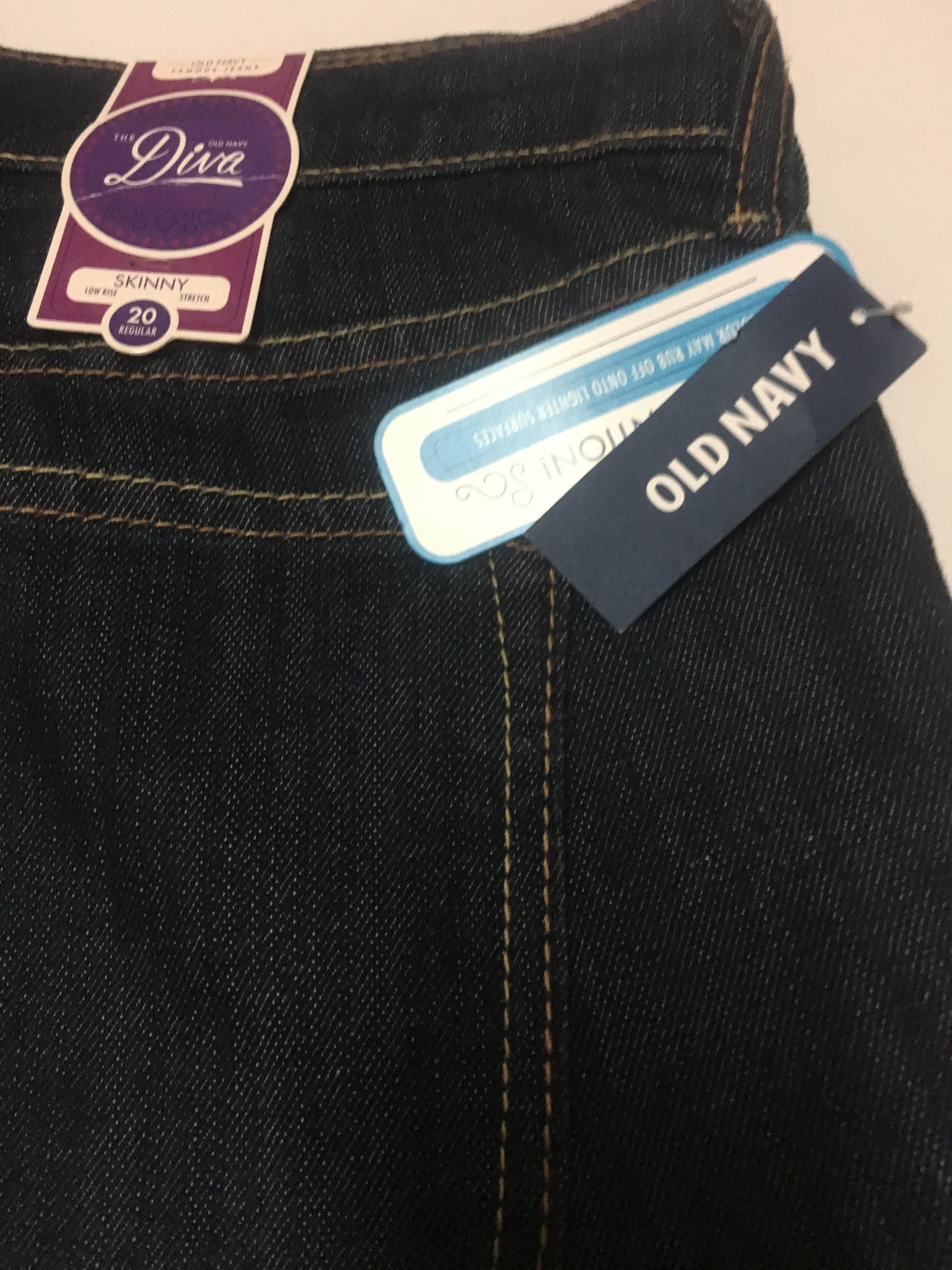 Old Navy Diva Jeans Skinny Low Rise Stretch Sz 20 Regular