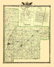 Montgomery County Illinois  - Warner 1870 - 23.00 x 28.10 - $36.58+