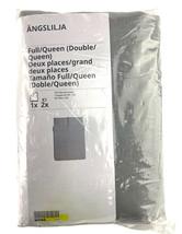Ikea ANGSLILJA Full/Queen Duvet Cover 2 Pillowcases Bed Set Cotton Gray ... - $56.38