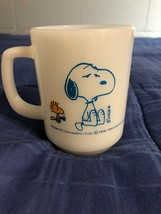 Schulz Fire King Snoopy Coffee CUP MUG I'm Not Worth A Thing Before Coff... - $19.79