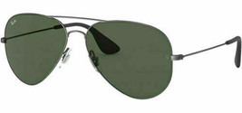 Ray ban Hombre Antiguo Negras Gafas de Sol Aviador RB3558 913971 58 Italia - $99.34