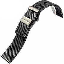 Smooth Milanese Loop Stainless Steel Shark Mesh Bracelet Strap Watch Band (18mm, - $17.15