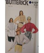 4127 Vintage Butterick Cartamodello Misses Molto Vestibilità Comoda Blusa - $4.89
