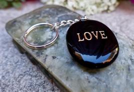 Black Volcanic Keychain: Stone Jewelry Meditation Reiki Prayer Beads Yog... - $10.16