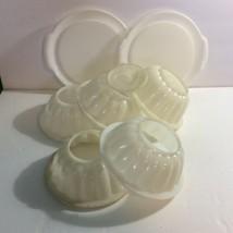 Tupperware Jel-N-Serve Jello Mold Lot 8 Pieces White Sheer 616 Vtg - $6.88