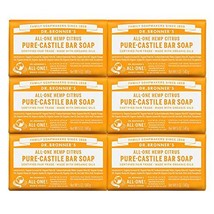 Dr. Bronner's - Pure-Castile Bar Soap Citrus, 5 ounce, 6-Pack - Made wit... - $34.36