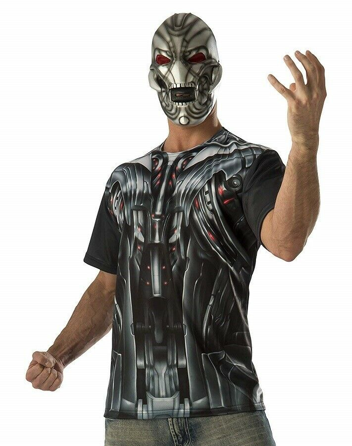 Primary image for XLARGE - Adult Mens Marvel Avengers 2 Ultron T-Shirt and Mask Costume