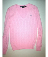 New Womens Ralph Lauren Sport Sweater Top Small Pink Casual S Pretty Cha... - $75.00