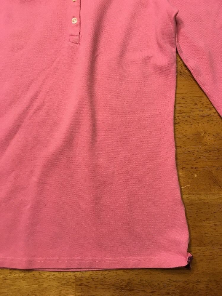 Abercrombie Girl's Pink 3/4 Sleeve Polo Shirt - Size: Large image 10